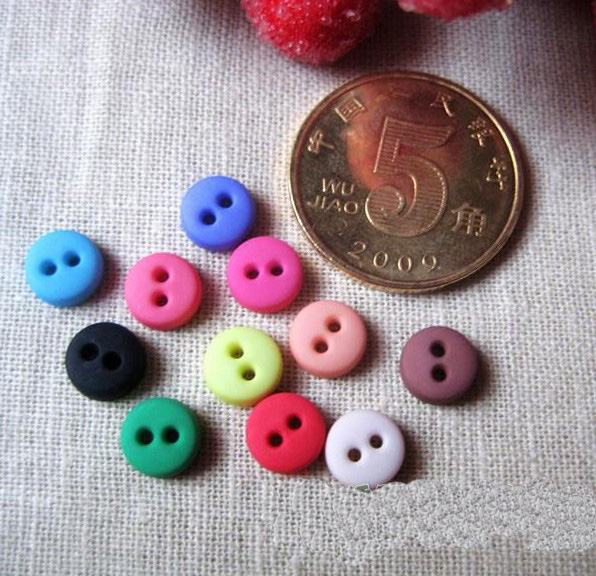 convex mini round buttons tiny