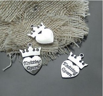 alloy crown with heart charms wholesale
