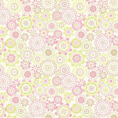 Printed flower pattern paper for scrapbooking