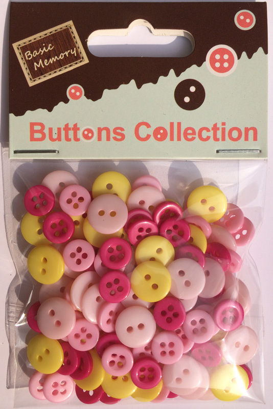 Girl assorted plastic buttons wholesale-mixed plastic buttons