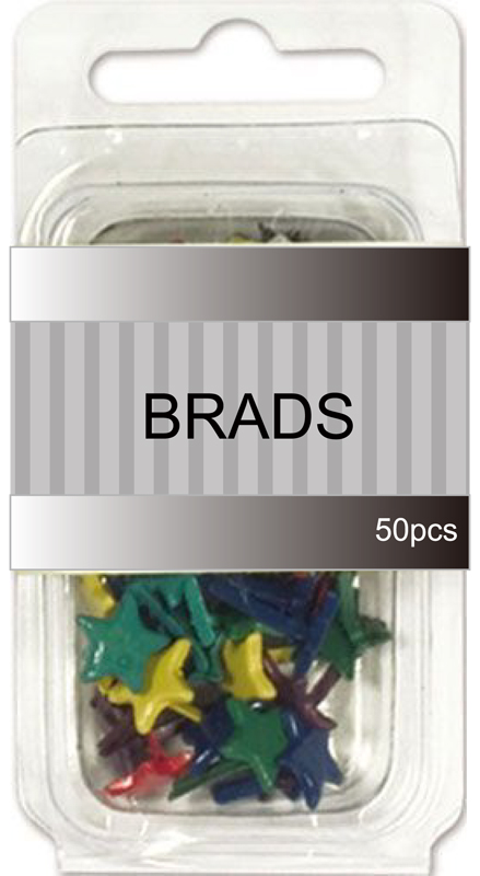 Assorted Primary star shape brads collection