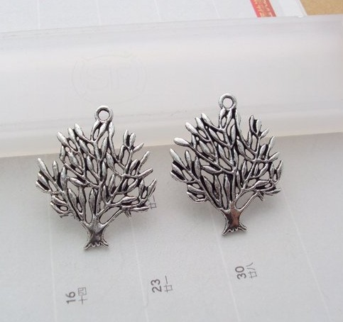 scrapbook tree silver charms for bracelet