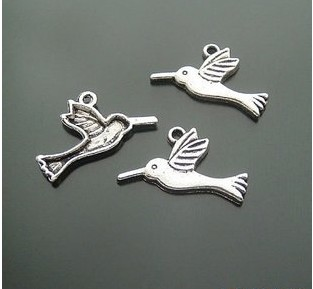 Antique metal birds charms wholesale
