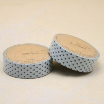 Blue tape with black dots washi tape-decorating washi tape