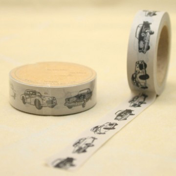 The Car collection printed decorative washi tape for scrapbooking