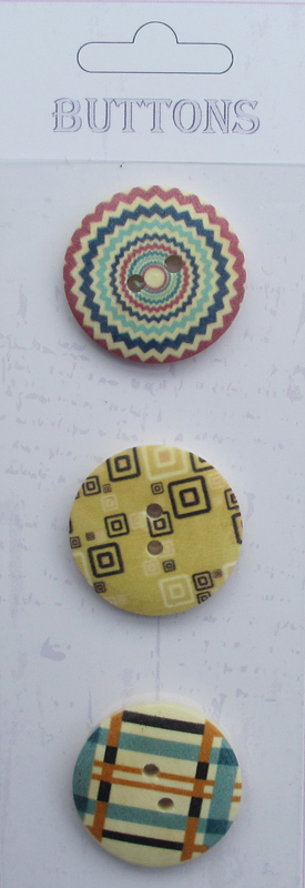 3pcs wooden buttons printing for craft
