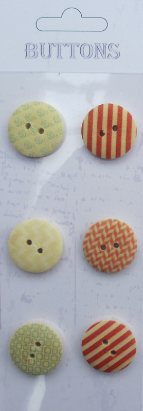 6pcs chinese wholesale wooden buttons printing