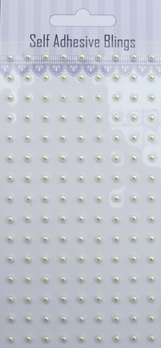 White 135pcs 3mm adhesive pearls sticker-slef adhesive pearls