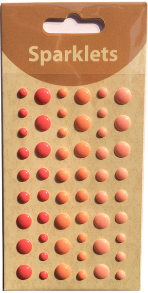 self adhesive enamel dots-warm collection-embellishments