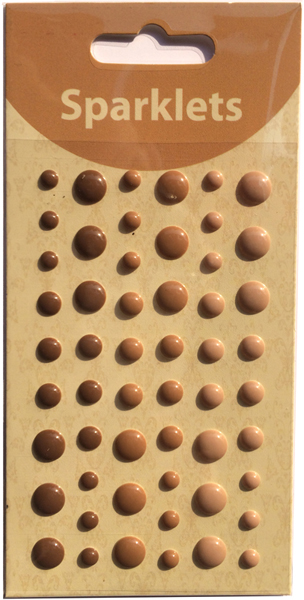 self adhesive enamel dots-coffee collection-embellishments