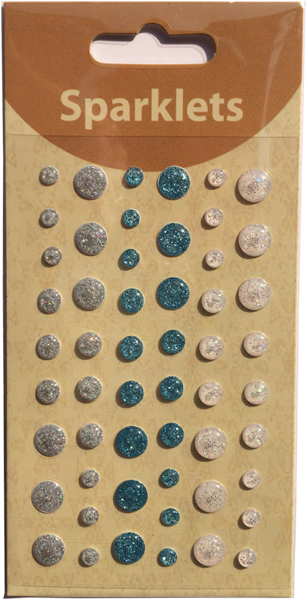 self adhesive glitter enamel dots-winter collection-embellishments
