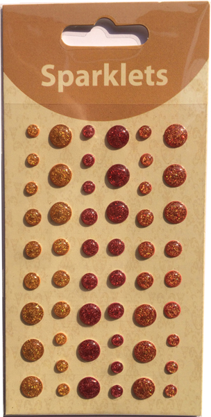 self adhesive glitter enamel dots-warm collection-embellishments
