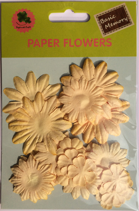 Ivory collection scrapbook paper flowers-paper petals-embellishments