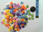 13mm forest love plastic fancy buttons