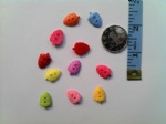 11X16mm plastic strawberry buttons for craft collection
