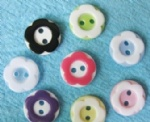 lovely two-tone buttons for scrapbooking