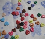 mini love heart buttons for scrapbooking