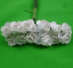 White 1.5cm scrapbooking paper rose flowers