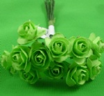 Green 1.5cm scrapbooking paper rose flowers