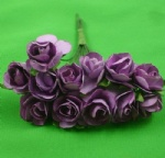Purple 1.5cm scrapbooking paper rose flowers