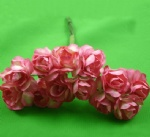 Peach Red 2.0cm paper flower rose