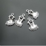 alloy girl dress charms for decorating