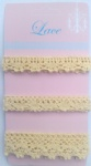 Craft ribbon lace cotton for decorating