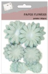Ice blue scrapbook paper flower petals