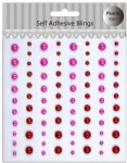 Wholesale Red collected self adhesive pearls sticker