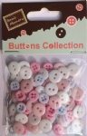 Pastel assorted plastic buttons-wholesale novelty buttons for craft