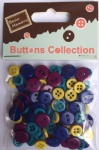 Bright assorted plastic buttons-wholesale novelty buttons for craft