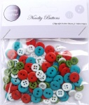 Christmas assorted plastic buttons wholesale
