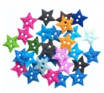 Scrapbook embellishments felt buttons star shape