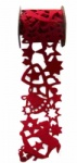Red Chirstmas scrapbooking felt ribbon lace