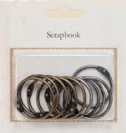 Antique Metal Bookrings for scrapbooking