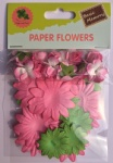Spring set scrapbook paper flowers-rose flowers-cardmaking embellishments