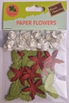 Christmas decorative paper flowers collection