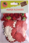 Wedding set scrapbook paper flowers-rose flowers-cardmaking embellishments