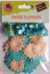 Boy set scrapbook paper flowers-rose flowers-cardmaking embellishments