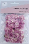 Purple scrapbook paper rose blooms