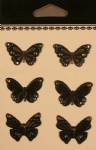 Butterfly metal decorative embellishments