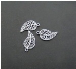 Metal leaf charms bracelet