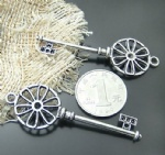 Decorative meatl Key charms wholesale