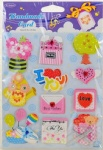 Decorative 3D paper sticker wholesale
