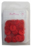 Red mix size plastic buttons collection wholesale