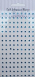 135pcs 3mm round blue gems sticker for craft
