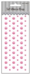 69pcs Pink self adhesive pearls-scrapbook embellishments