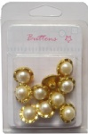 China wholesale Plating gold shank buttons with pearls