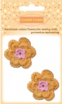 Dark Yellow crochet flowers for craft