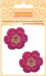 Red crochet flowers for craft